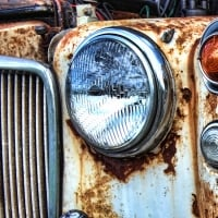 Corroded car