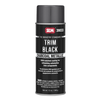 Trim Black Charcoal Metallic