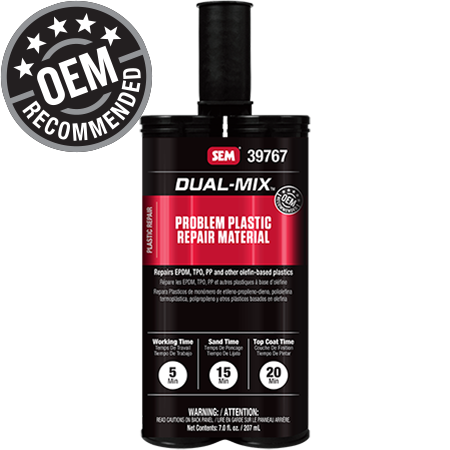Dual-Mix™ Problem Plastic Repair Material
