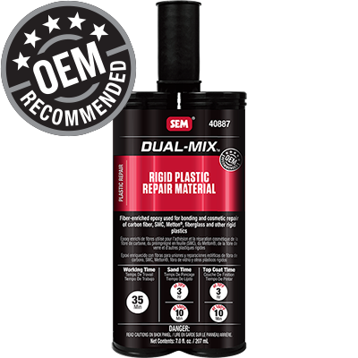 Dual-Mix™ Rigid Plastic Repair Material